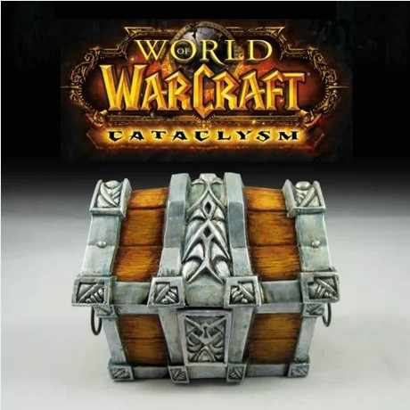 WOW Hearthstone Rusak Harta Karun Kasus Prop PVC Action Figure Collectible Model Toy 18 Cm
