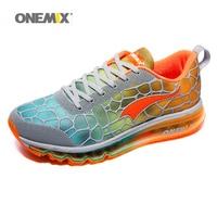 Onemix quente Almofada De Ar Dos Homens Tênis de corrida de 2017 para homem Calçados Esportivos de Verão Respirável Trainer Andando Ao Ar Livre mais Confortável