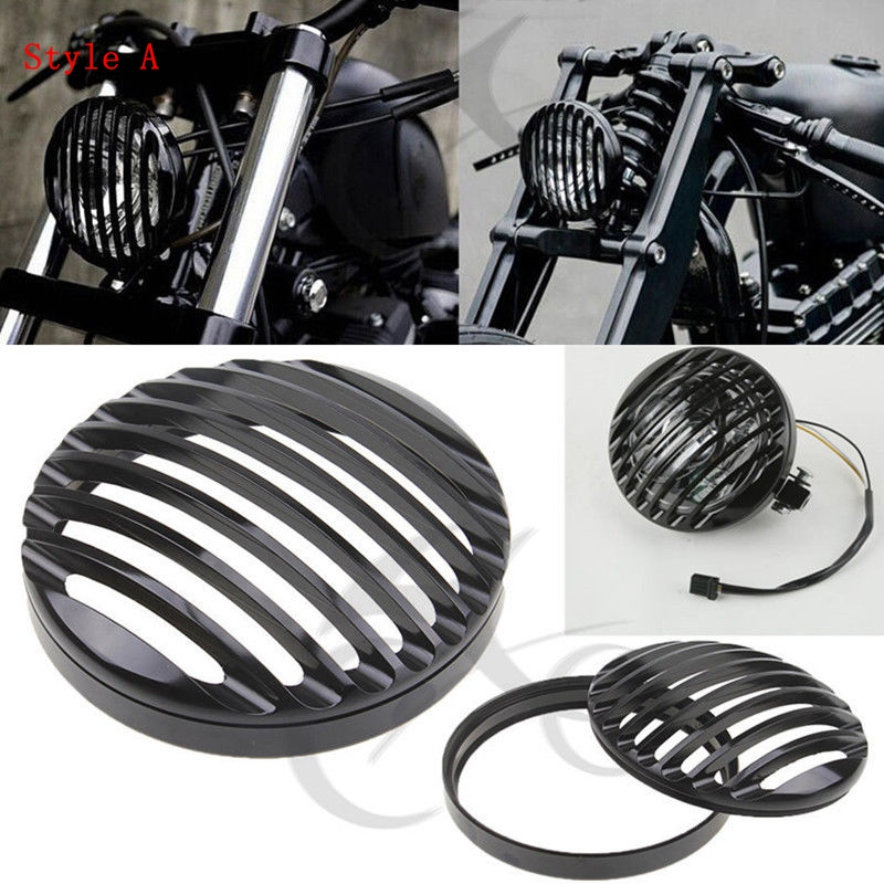Motorcycle 5 3/4 7 CNC Headlight Grill Cover For Harley Davidson Sportster XL 883 1200 Softail Electra Road Glide Dyna FX FL motorcycle accessories engine decorative cover motorbike engine cover for harley davidson 2006 sportster 1200 roadster xl1200r