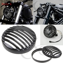 Motorcycle 5 3/4 7 CNC Headlight Grill Cover For Harley Davidson Sportster XL 883 1200 Softail Electra Road Glide Dyna FX FL