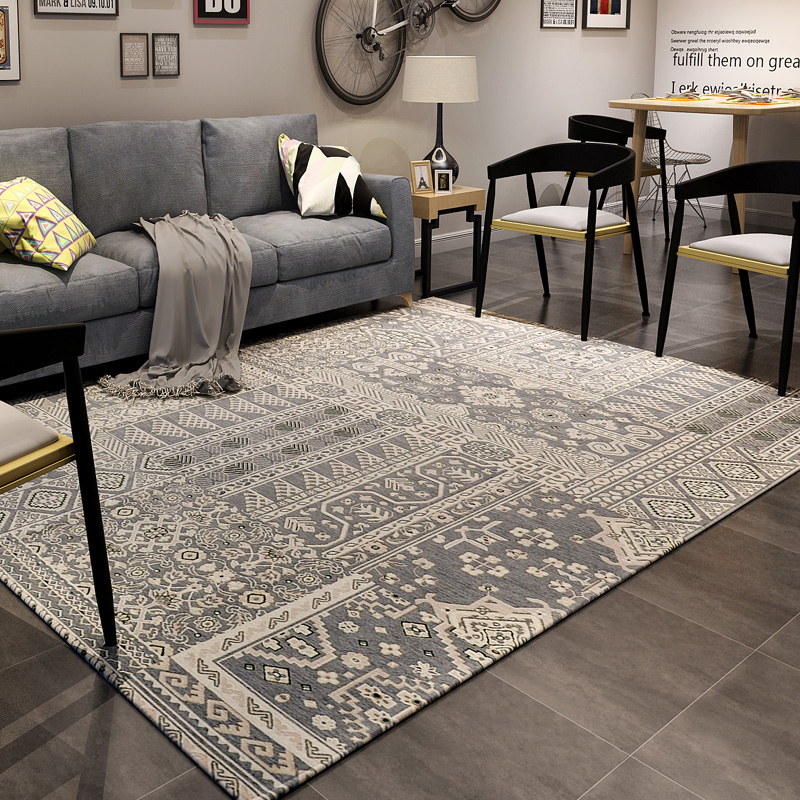 Tapis Noir Conforama 160x230cm Nordic Classic Carpets For Living Room Home