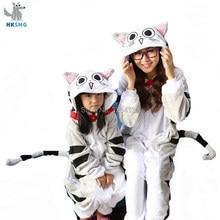 HKSNG Новый животных взрослых сыр кошка кигуруми пижамы высокое качество  фланель вечерние партия комбинезоны костюмы для 190316c47981d