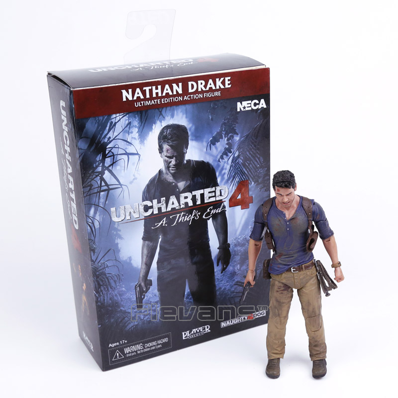 NECA Uncharted 4 A thief's end NATHAN DRAKE Ultimate Edition PVC Action Figure Collectible Model Toy 18cm neca epic marvel deadpool ultimate collectible 1 4 scale action figure model toy 16 45cm ems free shipping
