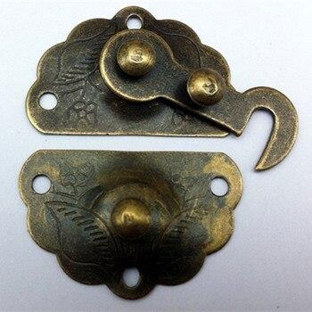 Bulk Antique Zinc Iron Latch Decorative DIY Jewelry Gift Wine Wooden Box Suitcase Case Hasp Latch Hook Vintage Hardware,34*45mm