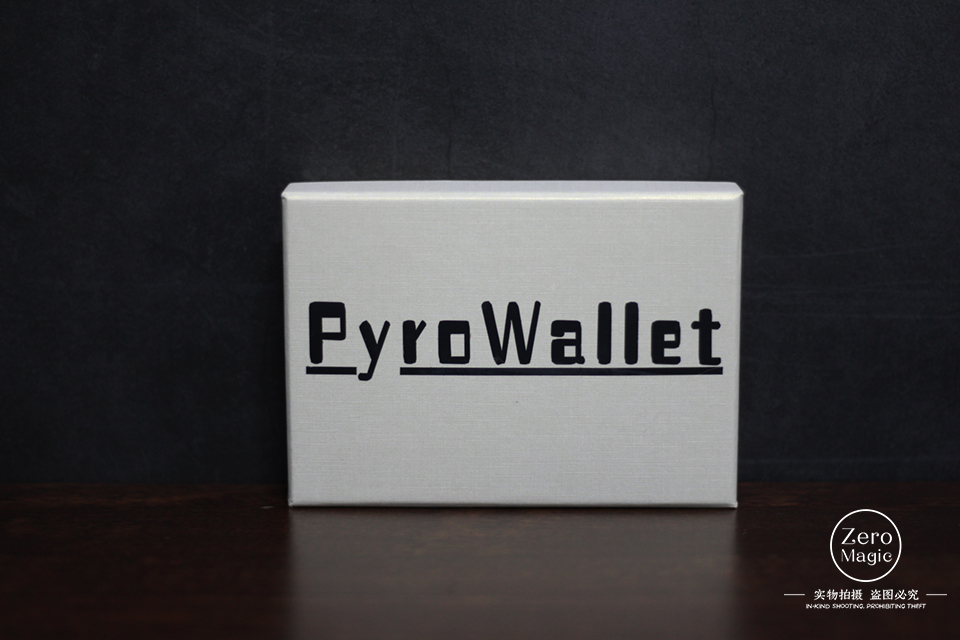 PYRO Wallet by Adam Wilber Magic Trick Mentalism Magic Close Up Street Magic Fun Party Trick