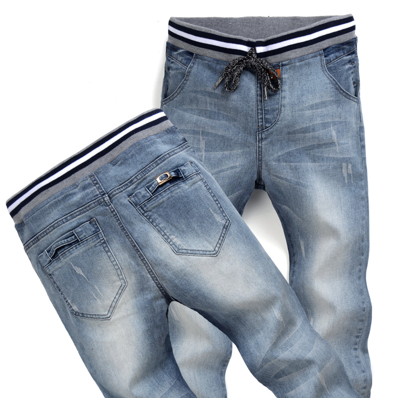 blue black jeans male