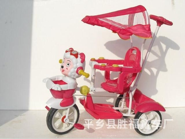Free Shipping New 2016 1-3 yearls child ride on tricycle bassinet umbrella handcart baby stroller