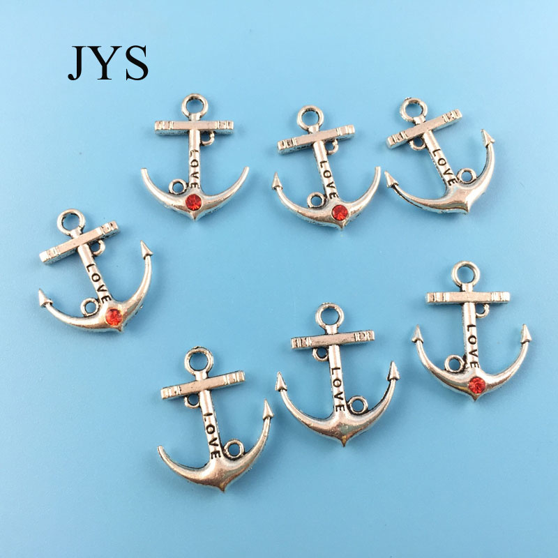 FREE SHIPPING 19*22MM 12PCS/LOT ZINC ALLOY CHARMS METAL CHARMS ANCHOR CHAMRS FOR JEWELRY FINDING FOR NECKLACE BRACELET