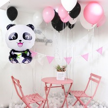 Cartoon Panda Foil Balloons Birthday Party Decoration Kids Baby Shower Favor Jungle Air Baloon Amnimal Helium Ballon