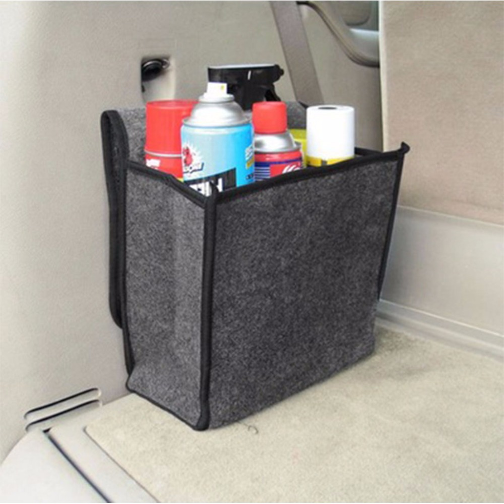 89e3e51b88dc Foldable Felt Cloth Car Seat Back Rear Travel Storage Organizer Holder  Interior Collapsible Hanger ...