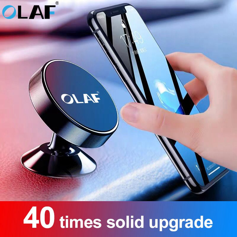 OLAF Universal Magnetic Car Phone Holder Stand In Car For IPhone X Samsung Magnet Air Vent Mount Cell Mobile Phone Support GPS