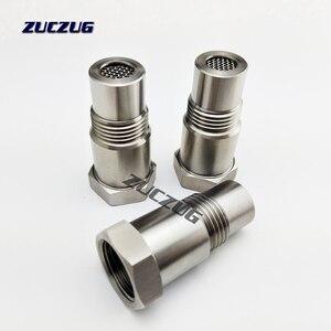 Image 5 - الفولاذ المقاوم للصدأ M18x1.5 O2 الأكسجين الاستشعار تمديد فاصل إزالة خطأ موصل الفضة