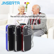 JINSERTA L 088AM Dual band rechargeable portable mini pocket digital AM FM radio with USB port TF micro SD card slot Mini Radio