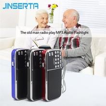 JINSERTA L 088AM double bande rechargeable portable mini poche numérique AM FM radio avec port USB TF micro SD carte fente Mini Radio