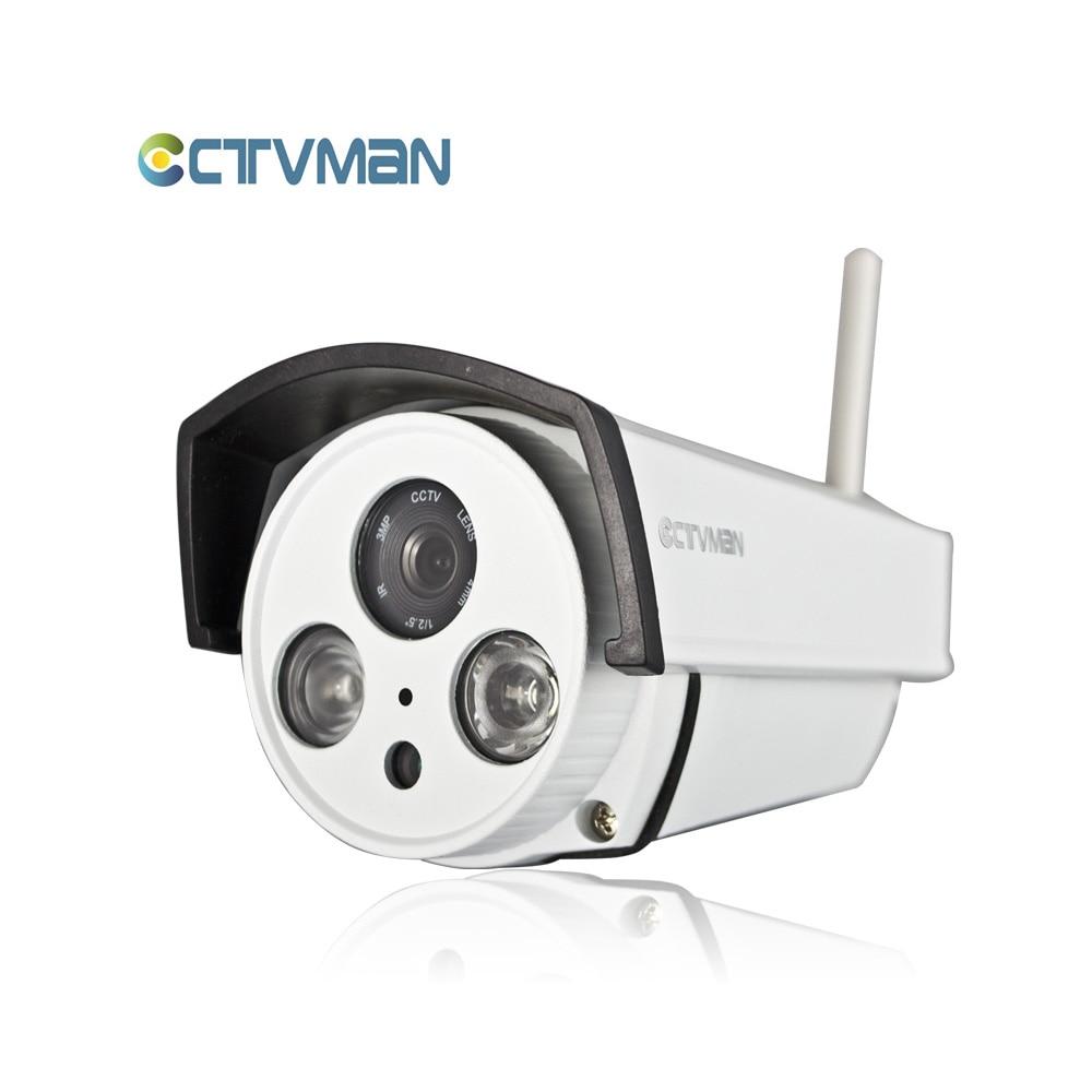 CTVMAN Outdoor CCTV Wifi IP Camera Wi-fi SD Card Slot 720P Weatherproof Onvif P2P Wireless Surveillance Exterieur Cam With Audio ctvman security ip camera wifi 720p camaras de seguridad mini wireless kamera onvif two way audio sd card slot cctv p2p webcam