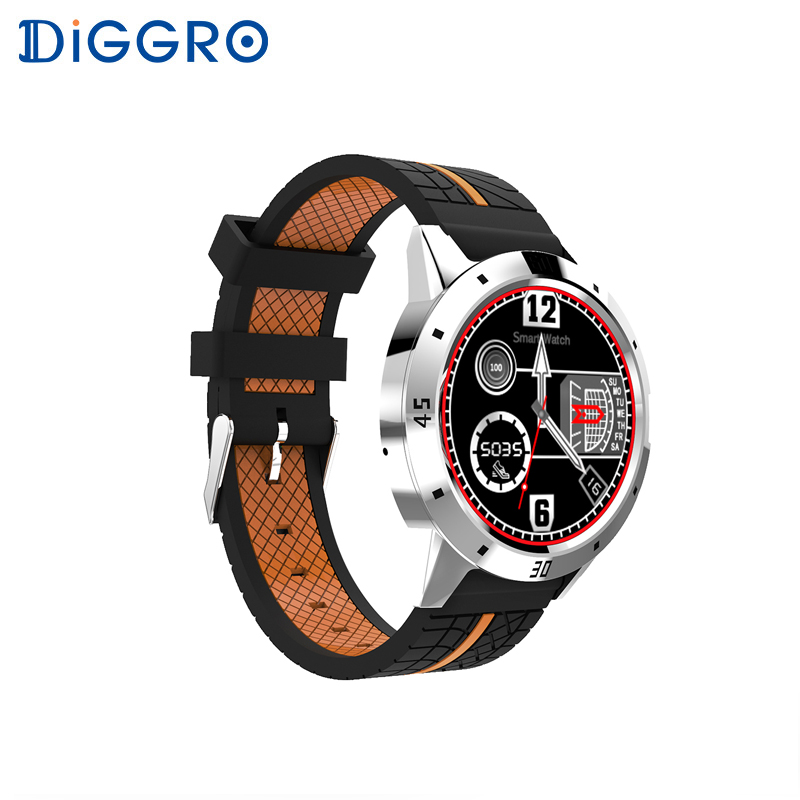 Diggro DI02 Bluetooth Smart watch Phone MTK2502C 128MB+64MB Heart Rate Monitor Pedometer Sleep Monitor for Android & IOS bluetooth siri diggro di02 mtk2502c 128mb 64mb smart watch heart rate pedometer sleep monitor sedentary android & ios reminder