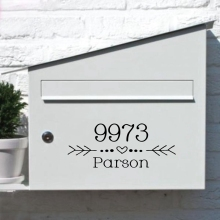 DIY Индивидуальные адрес на почтовый ящик силуэт наклейки обои Съемные клеи фрески виниловые художественные наклейки почтовый ящик аксессуары