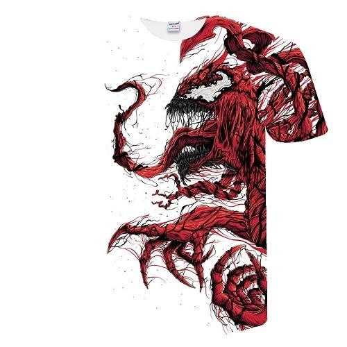 New venom T shirt Marvel fashion casual short sleeved shirt Men and women fashion trend youth