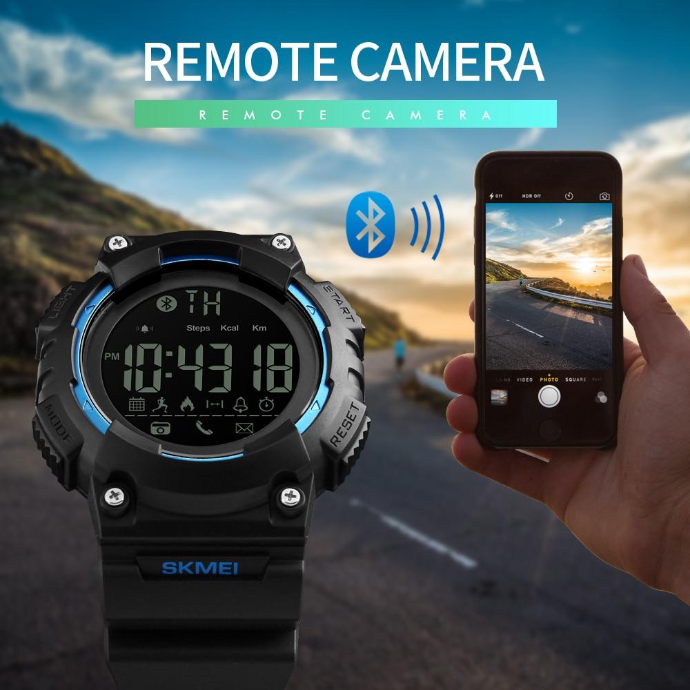 SKMEI 1256 Men Smart Watch Pedometer Calories Chronograph Fashion Outdoor Sports Watches 50M Waterproof Digital Wristwatches