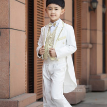 2017 New Children Tuxedo Set Costume Birthday Wedding Fashion Casual Brand Formal Boy Suits