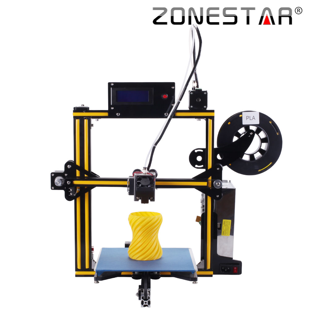 2018 plus récent ZONESTAR plein métal cadre en aluminium en option nivellement automatique Laser gravure Filament épuisé détecter 3d imprimante kit de bricolage