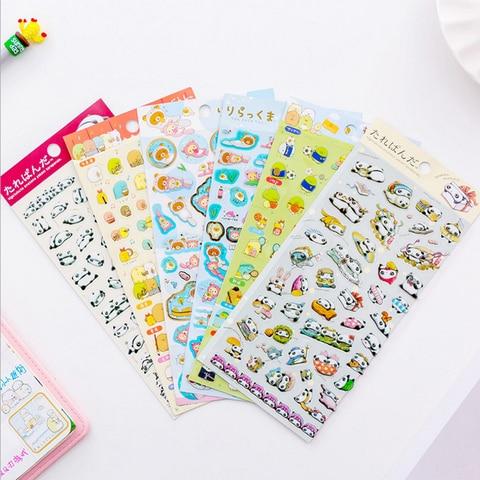 20 pcs lote bonito estilo japones canto bio panda adesivos scrapbooking decoracao diy para diario