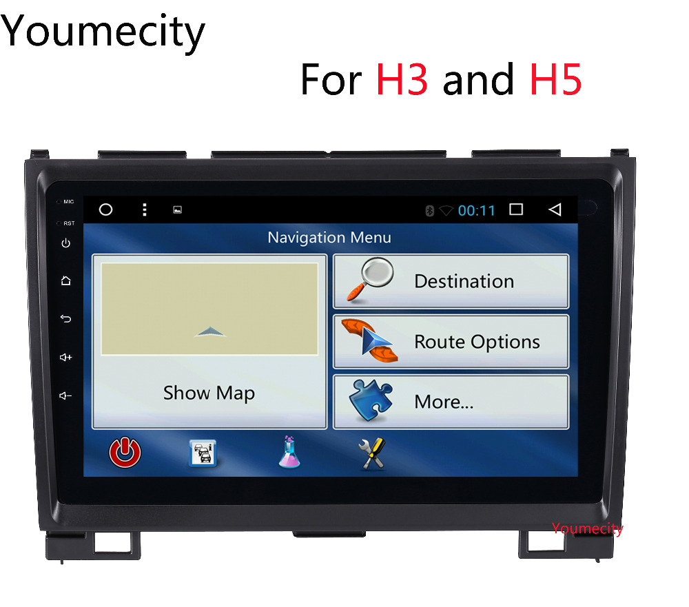 Youmecity Android 8.1 9 inch Octa Core Car dvd Video GPS For Haval Hover Greatwall Great wall H5 H3 Screen 1024 *600+wifi+BT RDS funrover 9 2 din android 8 0 car radio multimedia dvd player gps for great wall haval h3 h5 2010 2013 glonass wifi fm quad core