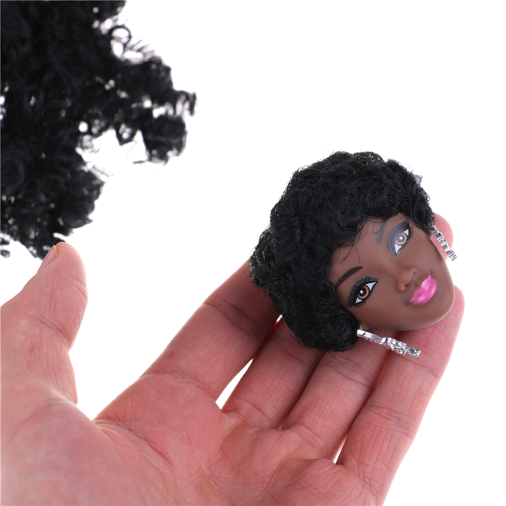 1pcs Diy Gifts For Girls Dolls Accessories Black Doll Hair Head For Dolls As For Fr Dolls Black Explosion Hairstyle Dolls Accessories