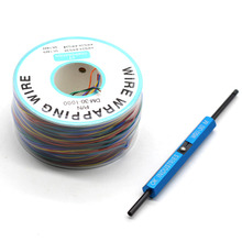 8 Color Wrapping Wire AWG30 Cable OK Line PCB Flying Jumper Wire Electrical Wire + WSU Wire Wrap Strip Unwrap Tool