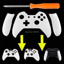 Mat Solide Blanc Avant Top Up Coque Façade avec gauche Droite Panneau Poignée Côté Rails pour Microsoft Xbox One contrôleur