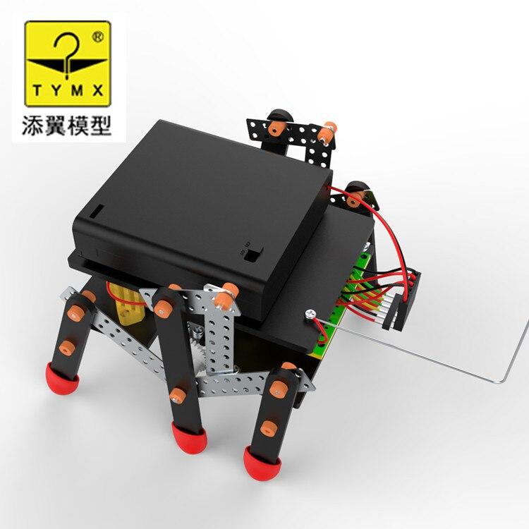 DIY RC Double Drive  Four-Channel  Hexapod Robot Popular Plastic Puzzle Toy Technology Manual for Children Kids aurora double drive 1500