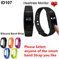 ID107 Bluetooth Smart Wristband Smart Band Heart Rate Monitor pulsometer Fitness Sport Tracker SmartBand Reminder PK Xiaomi band