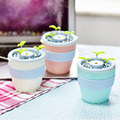 New Mini USB Air Anion Humidifier Essential Oil Aroma Diffuser Aromatherapy Flower Pot Shape Home Office Mist Maker