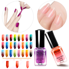 Professional 24 Colors Sexy Nail Polish 7ML Thermal Peel Off Temperature Color Changing Varnish Manicure