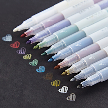 10 color Metaillic micron pen Drawing marker for obaque paper Scrapbooking Art brush colored Stationery School supplies F614