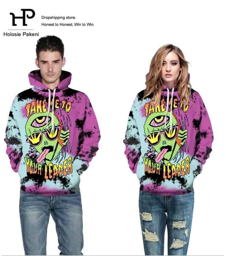 Dropshipping Lovers Clothes Cartoon 3D Sweatshirts Hoodies Mens Women 3D Alien Novelty hoodie streetwear Jacket Christmas gift
