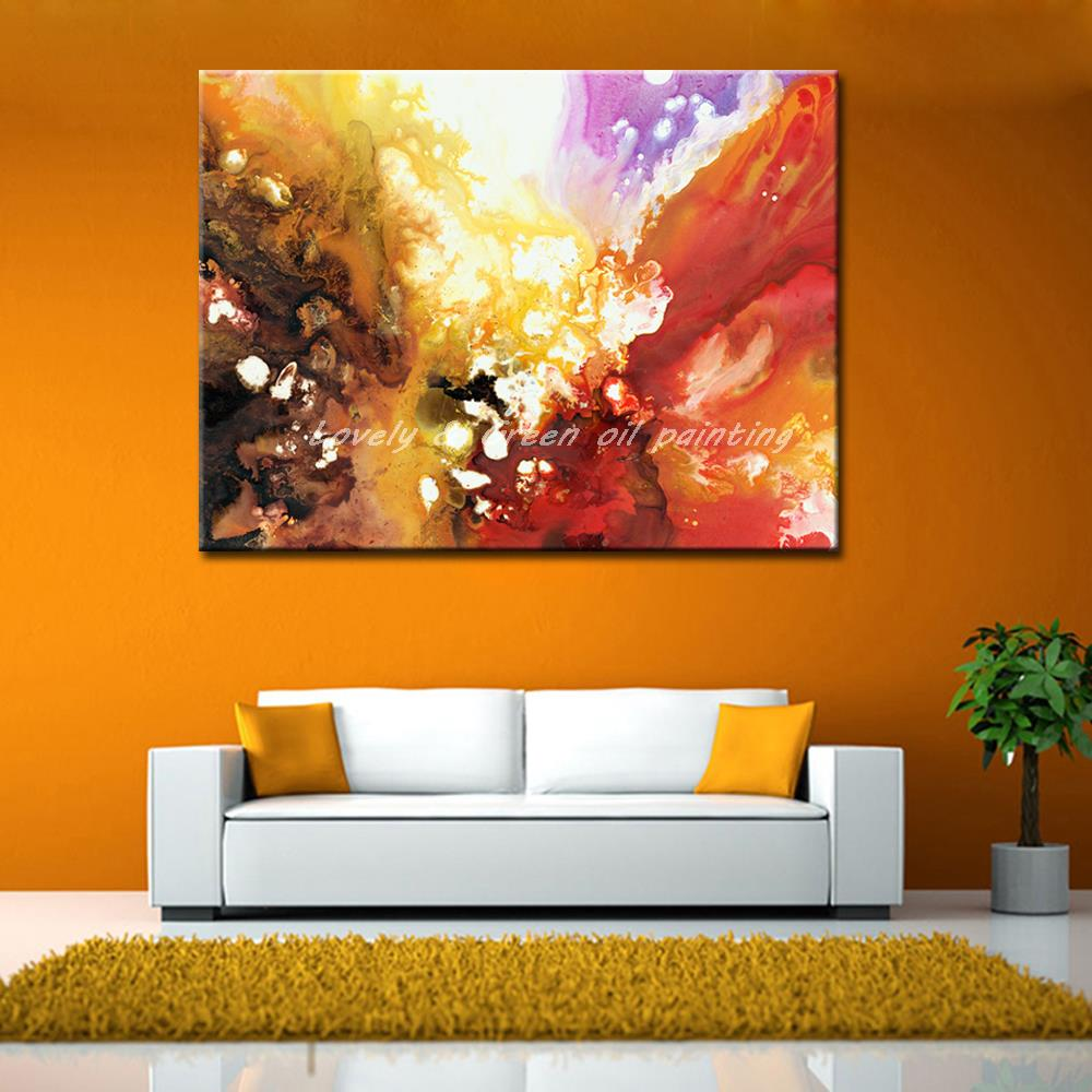 E-BE Top Fashion Flowers Design Wall Pictures For Living Room Home Decor Oil Painting Unframed Wall Art Canvas Painting