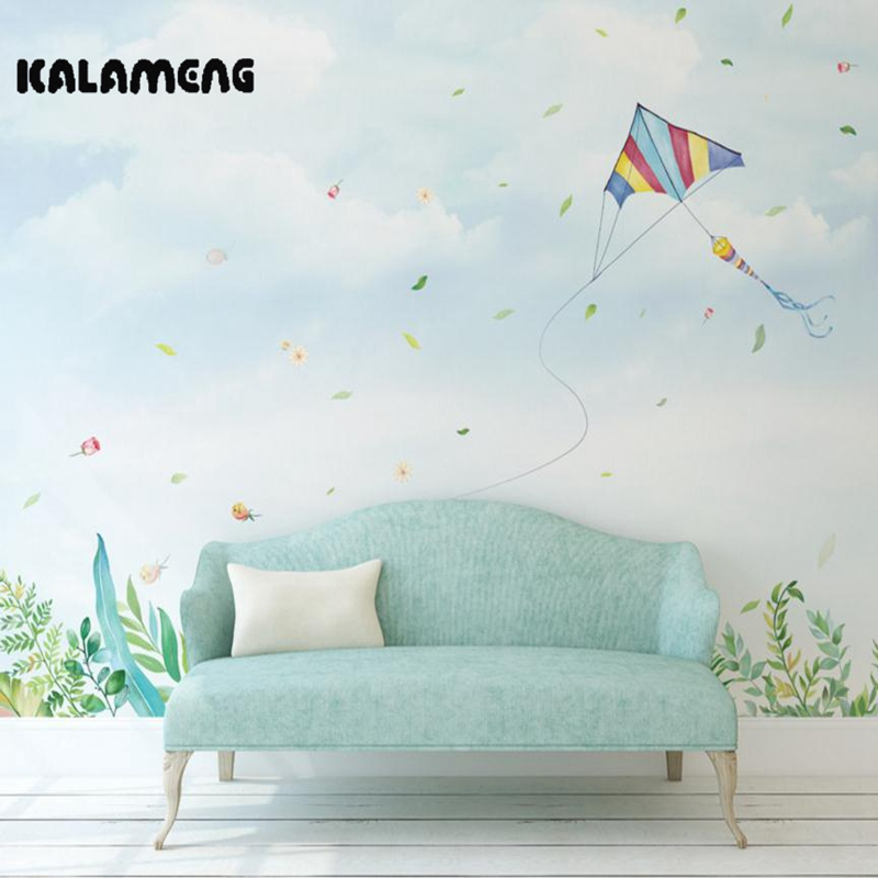 XCHELDA Custom 3D Wallpaper Design Cartoon Spring kite Photo Kitchen Bedroom Living Room Wall Mural Papel De Parede Para Quarto custom children wallpaper multicolored crayons 3d cartoon mural for living room bedroom hotel backdrop vinyl papel de parede