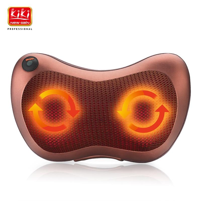 ФОТО Home car dual-use multifunction dish massager car massage pillow cervical lumbar leg massager Infrared Heating body massager