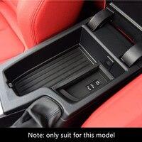 ABS Estilo do carro Caixa Apoio de Braço Central Caixa De Armazenamento de Acabamento Para BMW Série F30 2013-17 3 Acessórios Interior Modificado