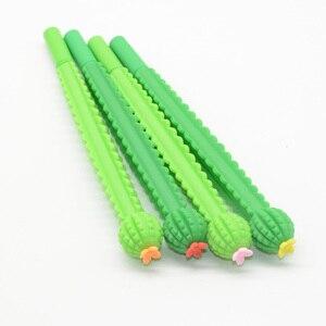 Image 5 - Lápices de Gel con forma de Cactus para hombre y mujer, bolígrafos de Gel con plumas, estilo escolar, Lapiceros Creativos, 60 uds.