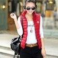 Mujer chaleco de algodón moda otoño invierno 2017 de algodón chaleco femenino del todo-fósforo delgado prendas de vestir exteriores del chaleco Barato al por mayor