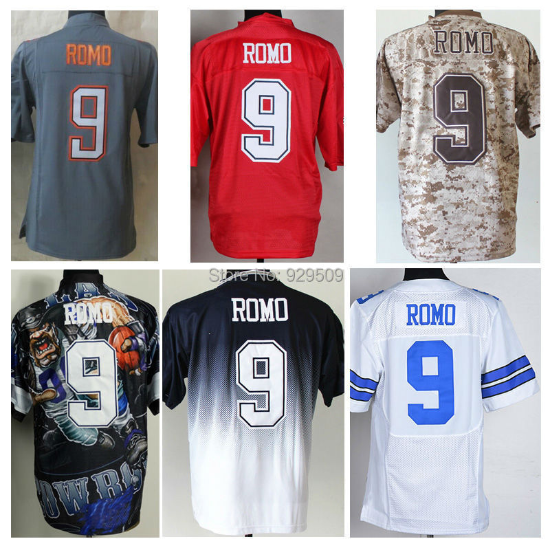 reputable site 1c73e 92c49 tony romo jersey stitched cheap american football jerseys ...