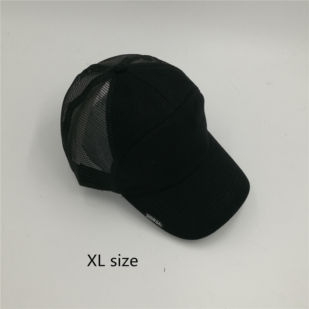 94d1e67b 201772 65cm 64cm head XXL size summer linen CLOTH BIG plus SIZE Breathable  Snapback gimme Trucker hat Mesh baseball cap