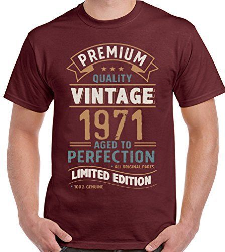 2019 Summer New Brand Men Men Casual Fitness <font><b>Vintage</b></font> Year <font><b>1971</b></font> - Limited Edition 47th Birthday Mens Funny T-Shirt 47 Year Old image