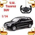 Presente de Ano novo 1/14 Touareg SUV RC Brinquedos de Controle Remoto Carro veículo Elétrico Modelo em Escala do Caminhão de Corrida Divertida Para Os Fãs Do Carro Jeep presente