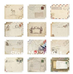 Image 1 - 240pcs/lot  New Vintage European style students funny mini gift  for kids birthday invitation greeting card