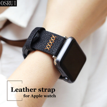 leather Strap for Apple watch band 42mm 38mm correa iwatch 44mm 40mm series 4 3 2 car line for Apple watch Accessories 42mm 38mm for apple watch s3 series 3