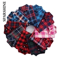 Tops Blusa Shirt 2016 Spring Autumn 100% Cotton Blouses Long Sleeve Women's Plaid Office Shirts 20 Styles Plus Size 3XL