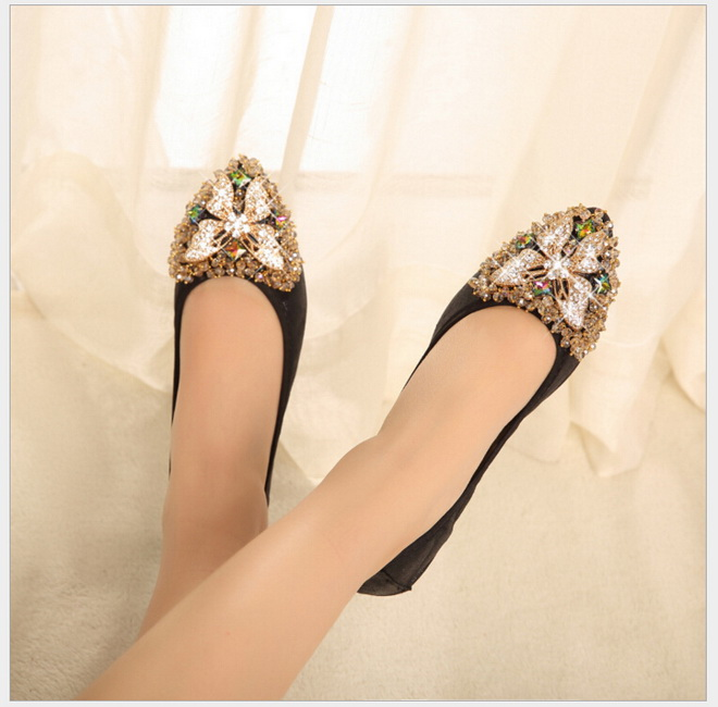 2017 new fashion pointed cone diamond women flats shoes casual shoes female spring summer designer shoes new 2017 spring summer women shoes pointed toe high quality brand fashion womens flats ladies plus size 41 sweet flock t179